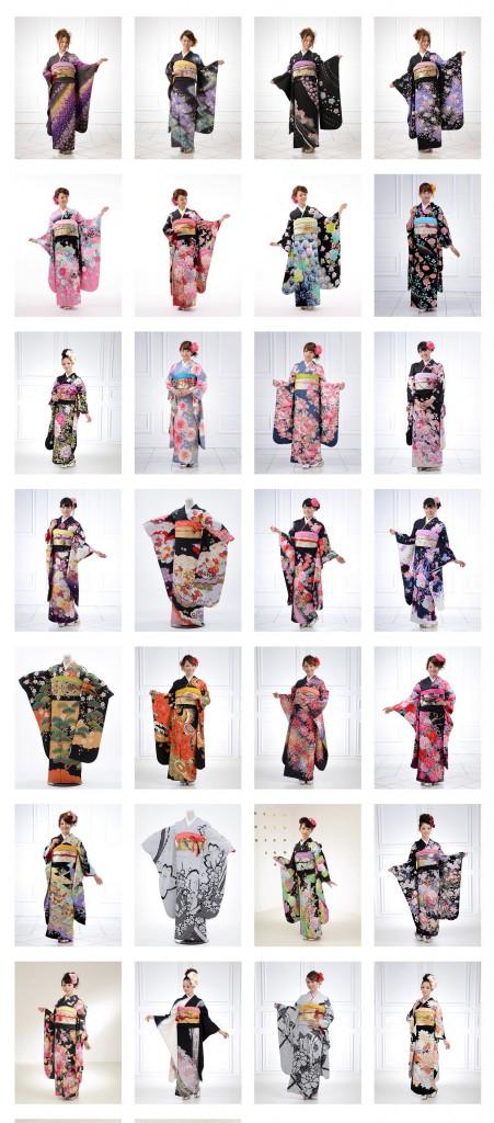 Kimono Catalogue » 成人式振袖未【黒系】